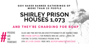 Charlie Baker banned gatherings of more than 25 people, Shirley houses 1,073